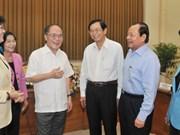 Le président de l'AN travaille avec des responsables de HCM-Ville