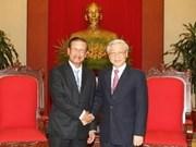 Le leader du Parti reçoit un vice-PM laotien
