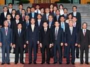 Le chef de l'État reçoit des chercheurs sud-coréens