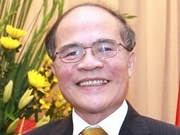 Le président de l'AN quitte Hanoi pour l'ASEP-7
