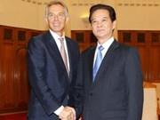 Le Premier ministre reçoit Tony Blair