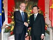 Entretien Truong Tan Sang et Herman Van Rompuy