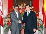 Entretien entre les présidents iranien et vietnamien
