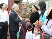 Le chef du PCV en tournée à Nam Dinh