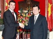 Le président du Vietnam reçoit le ministre des AE de Macédoine