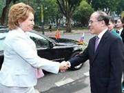 Entretien entre les présidents de l'AN et du Conseil de la Fédération de Russie