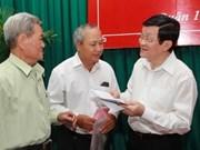 Le président prend note des suggestions des électeurs pour l'AN