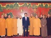 Le Parti et l'Etat apprécient les contributions du bouddhisme
