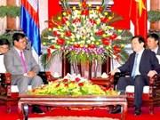 Truong Tan Sang reçoit le vice-PM et ministre de l'Intérieur cambodgien