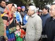 Le secrétaire général Nguyen Phu Trong à Lao Cai