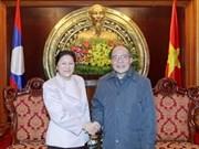 Le président de l'AN reçoit son homologue laotienne