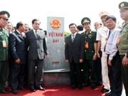 Le bornage de la frontière Vietnam-Cambodge achevé à Binh Phuoc