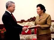 Une vice-ministre laotienne apprécie la coopération du Vietnam