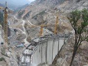 Centrale  Nâm Chiên I: 1er turboalternateur en activité