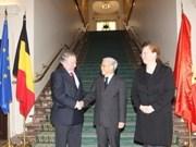 M. Trong rencontre les dirigeants du Parlement belge