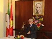 Le leader du Parti entame sa visite d'Etat en Italie