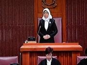 Félicitations à la présidente de l'AN de Singapour