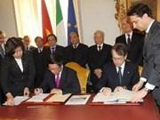 Vietnam et Italie établissent les relations de partenariat stratégique