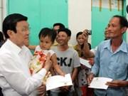 Truong Tan Sang formule ses voeux à Binh Duong