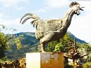 Le coq de K'hor, un coq en or