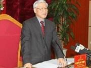 Le leader du Parti travaille à Phu Tho et à Vinh Phuc