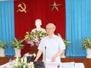 Le chef du PCV contrôle les tâches d'édification du Parti à Dông Nai