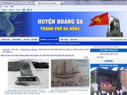 Lancement du site web sur le district insulaire de Hoang Sa