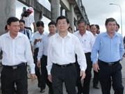 Truong Tan Sang en tournée dans la province de Ben Tre