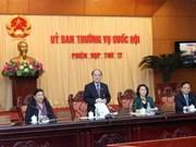 Le Comité permanent de l'AN se réunit pour sa 17e session