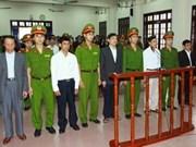 """Clôture du procès de l'affaire de ''destruction du bien d'autrui"""" à Tien Lang"""