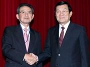 Le chef de l'Etat reçoit une délégation du Kansai
