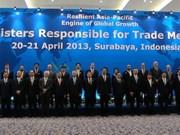 APEC: les ministres du Commerce réunis à Surabaya