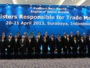 APEC: clôture de la conférence des ministres du Commerce