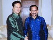 Entrevue Nguyên Tân Dung-Haji Hassanal Bolkiah