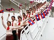 """Le """"Bateau de la jeunesse d'Asie du Sud-Est"""" au Laos"""