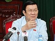 Le Président Truong Tân Sang à l'écoute des électeurs de HCM-Ville