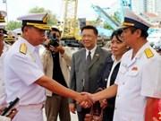 Un navire de la Marine thaïlandaise à Hô Chi Minh-Ville