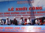 Mise en chantier de la Nationale Da Nang-Quang Ngai