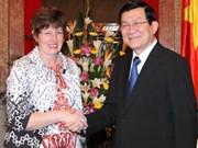 Le chef de l'État prise la relation Vietnam-Australie