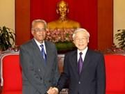 Le chef du PCV reçoit une délégation du Parti communiste d'Inde