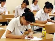 Examens de fin d'études secondaires sur une bonne note