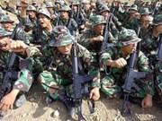 Indonésie-Malaisie: manœuvre antiterroriste à Medan