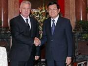Le chef de l'Etat reçoit un ministre russe