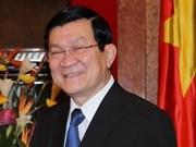 Le président Truong Tan Sang part pour la Chine