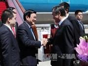 Le président Truong Tan Sang est arrivé à Pékin