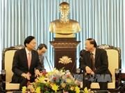 Tô Huy Rua reçoit l'ancien PM japonais Yukio Hatoyama