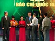 Vietnam : remise des prix de la presse nationale 2012