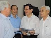 Le président rencontre des électeurs de HCM-Ville