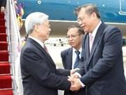 Le Secrétaire général du PCV rencontre le président du Parti Pheu Thai