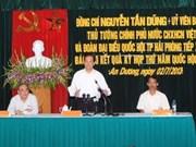 Nguyên Tân Dung rencontre des électeurs de Hai Phong